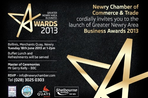 The Greater Newry Business Awards will be launched on the 18th of June.