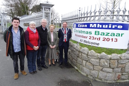Looking forward to the Cuan Mhuire Christmas Bazaar are Newry & Mourne Mayor, Michael Ruane with Sr Mary, Sr Consilio, Gerry Mc Elroy and Raymond Kinsella.