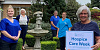 Supporting Hospice Care Week are from left: Richella Quinn (Nursing Auxiliary), Roberta Wilson (Acting Registered Manager), Bernie Farrell (Staff Nurse), Jennifer Mc Laughlin (Staff Nurse), and Liz Cuddy OBE DL (Chief Executive)