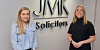 JMK Solicitors' newest Legal Administrator, Amy Cartmill pictured with Head of Operations and HR, Michelle Murphy.