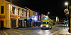 An Ambulance drives up an empty Monaghan Street in Newry. Photograph: Columba O'Hare