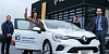 Charlene McGurk from Coalisland is pictured accepting her brand new Renault CLIO which she won in the Southern Area Hospice Car Competition from (left to right) James McCaffrey, Fundraising Officer, Southern Area Hospice, Charlene McGurk, Anne Mac Oscar, Corporate Partnerships Officer, Southern Area Hospice and Ronan Marshall, Group Marketing Manager, Shelbourne Motors.