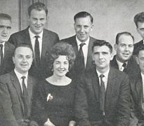 The Clippertones pictured in the late 1950s. Back: Jim Bann, Seamus McParland, Luke Bryne and Seamus Mulligan. Front: Brendan Hughes, Angela O'Reilly, Jim Hughes, Mickey Doran and Joe Dean. Newry and Mourne Museum Collection
