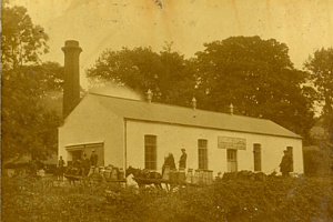 The exterior of Loughbrickland Creamery, c.1930 Newry and Mourne Museum Collection