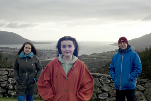 Lisa Duffy, Eimear Fearon & James Doran, the cast of 'Before You Go' by Kabosh which will stream online for free from 2-4 March