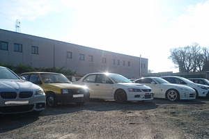 A photograph of some of the seized vehicles.