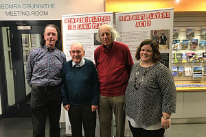Donal O'Hanlon, Charlie Smyth, Pat Mooney from the Newpoint Players and Joanne Cummins, Performing Arts Project Officer at Newry and Mourne Museum