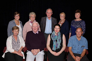 The newly Elected Accolade All Community Arts Committee back row l-r Mary Conlon, Rosaleen Moore, Colin Barr, Mary Cunningham and Sandra Parker, front row l-r Janet McAlister, Pat Cunningham, Brea McKeown and Cliff Cartwright.