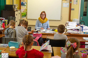 Ewa Gorzelak-Deska at the Polish Language School held at St Joseph's High School in Newry. Photograph: NewRayPics.com