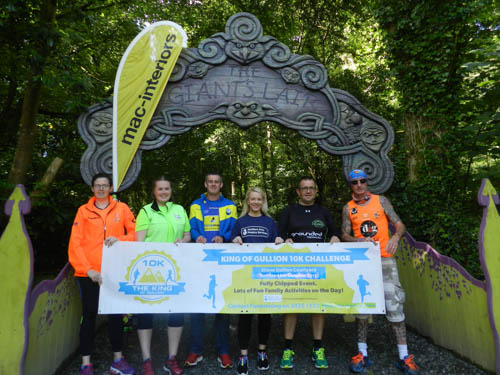 Getting ready for King of Gullion are from left: Nuala Collins, Club Pulse Runners; Laura Feehan, Ormeau Runners; Michael Englishby, Newry City Runners; Grainne Mulgrew, Southern Area Hospice; Dermot Winters, Slieve Gullion Runners and Colm Fearon, Team Dog.